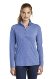 Women's Tri-Blend Wicking 1/4-Zip Pullover True Royal Heather Thumbnail