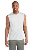 Sleeveless Competitor Tee White Thumbnail