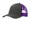 Snapback Trucker Cap Grey Steel with Purple Thumbnail