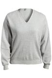 Women's Edwards V-neck Cotton Sweater Grey Heather Thumbnail