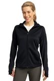 Women's Sport-tek Tech Fleece Full-zip Hooded Jacket Black Thumbnail