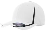 Flexfit Performance Colorblock Cap White with Black Thumbnail