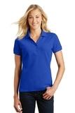 Women's Eddie Bauer Cotton Pique Polo Brilliant Blue Thumbnail