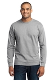 Long Sleeve 50/50 Cotton / Poly T-shirt Ash Thumbnail