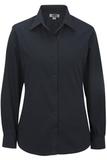 Women's Long Sleeve Service Shirt Navy Thumbnail