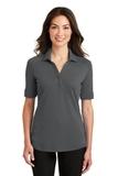 Women's Silk Touch Interlock Performance Polo Sterling Grey Thumbnail