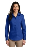 Women's Long Sleeve Carefree Poplin Shirt True Royal Thumbnail
