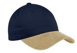 2-tone Brushed Twill Cap Navy with Khaki Thumbnail