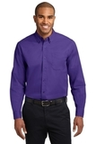 Long Sleeve Easy Care Shirt Purple with Light Stone Thumbnail