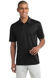 Legendary Sateen Moisture Wicking Polo Black Thumbnail