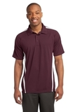Micro-mesh Colorblock Polo Maroon with White Thumbnail