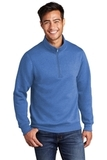 Core Fleece 1/4-Zip Pullover Sweatshirt Heather Royal Thumbnail