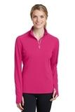 Women's Textured 1/4-Zip Pullover Pink Raspberry Thumbnail
