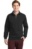 Super Sweats 1/4-zip Sweatshirt With Cadet Collar Black Thumbnail