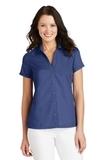 Women's Textured Camp Shirt Royal Thumbnail