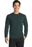 Long Sleeve Essential Blended Performance Tee Dark Green Thumbnail
