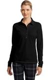 Women's Nike Golf Long Sleeve Dri-FIT Stretch Tech Polo Shirt Black Thumbnail
