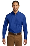 Port Authority Long Sleeve Carefree Poplin Shirt True Royal Thumbnail