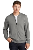 Lightweight French Terry Bomber Grey Concrete Thumbnail