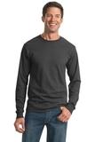 Moisture Management 50/50 Cotton / Poly Long Sleeve T-shirt Charcoal Grey Thumbnail
