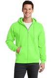 7.8-oz Full-zip Hooded Sweatshirt Neon Green Thumbnail