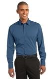 Stretch Poplin Shirt Moonlight Blue Thumbnail