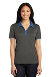 Women's Snag-Resistant Heather Contender Contrast Polo Graphite Heather with True Royal Thumbnail