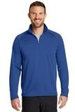Eddie Bauer 1/2 Zip Base Layer Fleece Cobalt Blue Thumbnail