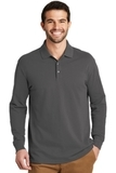 EZ-Cotton Long Sleeve Polo Sterling Grey Thumbnail
