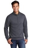 Core Fleece 1/4-Zip Pullover Sweatshirt Heather Navy Thumbnail