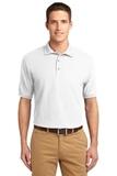 Extended Size Silk Touch Polo Shirt White Thumbnail
