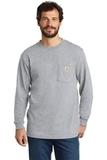 Carhartt Workwear Pocket Long Sleeve T-Shirt Heather Grey Thumbnail