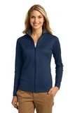 Women's Heavyweight Vertical Texture Full-zip Jacket Regatta Blue with Iron Grey Thumbnail