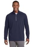 Sport-Wick Textured 1/4-Zip Pullover True Navy Thumbnail