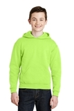 Youth Pullover Hooded Sweatshirt Neon Green Thumbnail