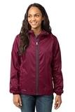 Women's Eddie Bauer Packable Wind Jacket Black Cherry Thumbnail