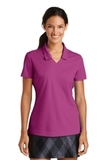 Women's Nike Golf Shirt Dri-FIT Micro Pique Polo Shirt Fusion Pink Thumbnail