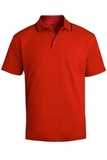 Men's Tipped Collar Dry-mesh Hi-performance Polo Red Thumbnail