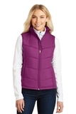 Women's Puffy Vest Bright Berry with Bermuda Purple Thumbnail