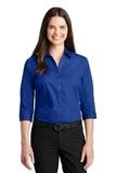 Women's 3/4Sleeve Carefree Poplin Shirt True Royal Thumbnail