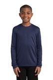 Youth Long Sleeve Competitor Tee True Navy Thumbnail