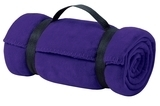 Value Fleece Blanket With Strap Purple Thumbnail