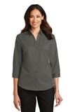 Women's 3/4Sleeve SuperPro Twill Shirt Sterling Grey Thumbnail
