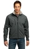 Port Authority Tall Glacier Soft Shell Jacket Smoke Grey with Chrome Thumbnail