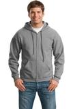 Full-zip Hooded Sweatshirt Sports Grey Thumbnail