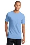 100 Cotton T-shirt With Pocket Light Blue Thumbnail