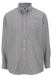 Men's Dress Button Down Oxford LS Black Thumbnail
