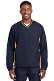 Tipped V-neck Raglan Wind Shirt True Navy with Gold Thumbnail