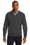 Port Authority V-neck Sweater Charcoal Heather Thumbnail