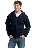 Super Sweats Full-zip Hooded Sweatshirt Navy Thumbnail